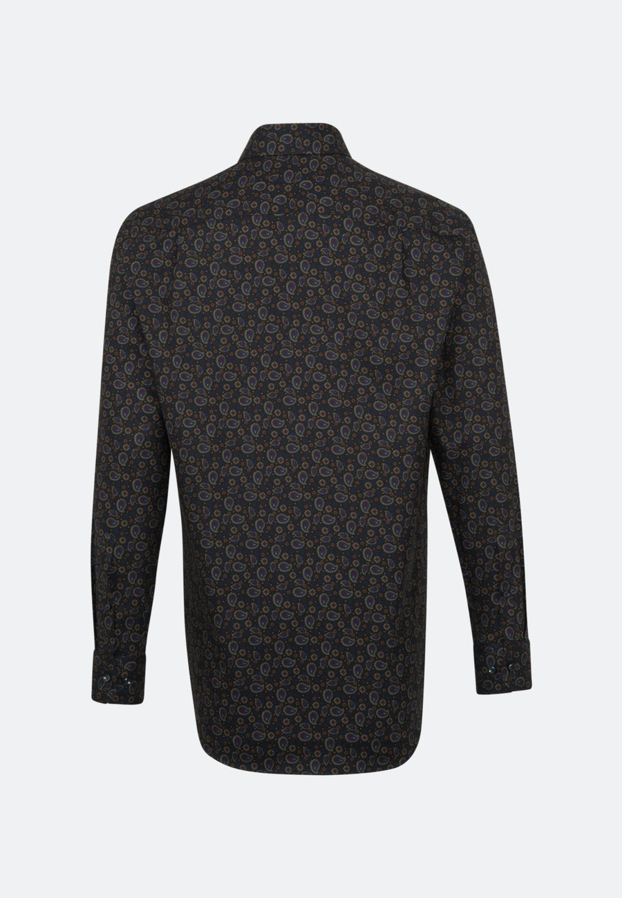 Bügelleichtes Twill Business Hemd in Regular mit Kentkragen in Grau |  Seidensticker Onlineshop
