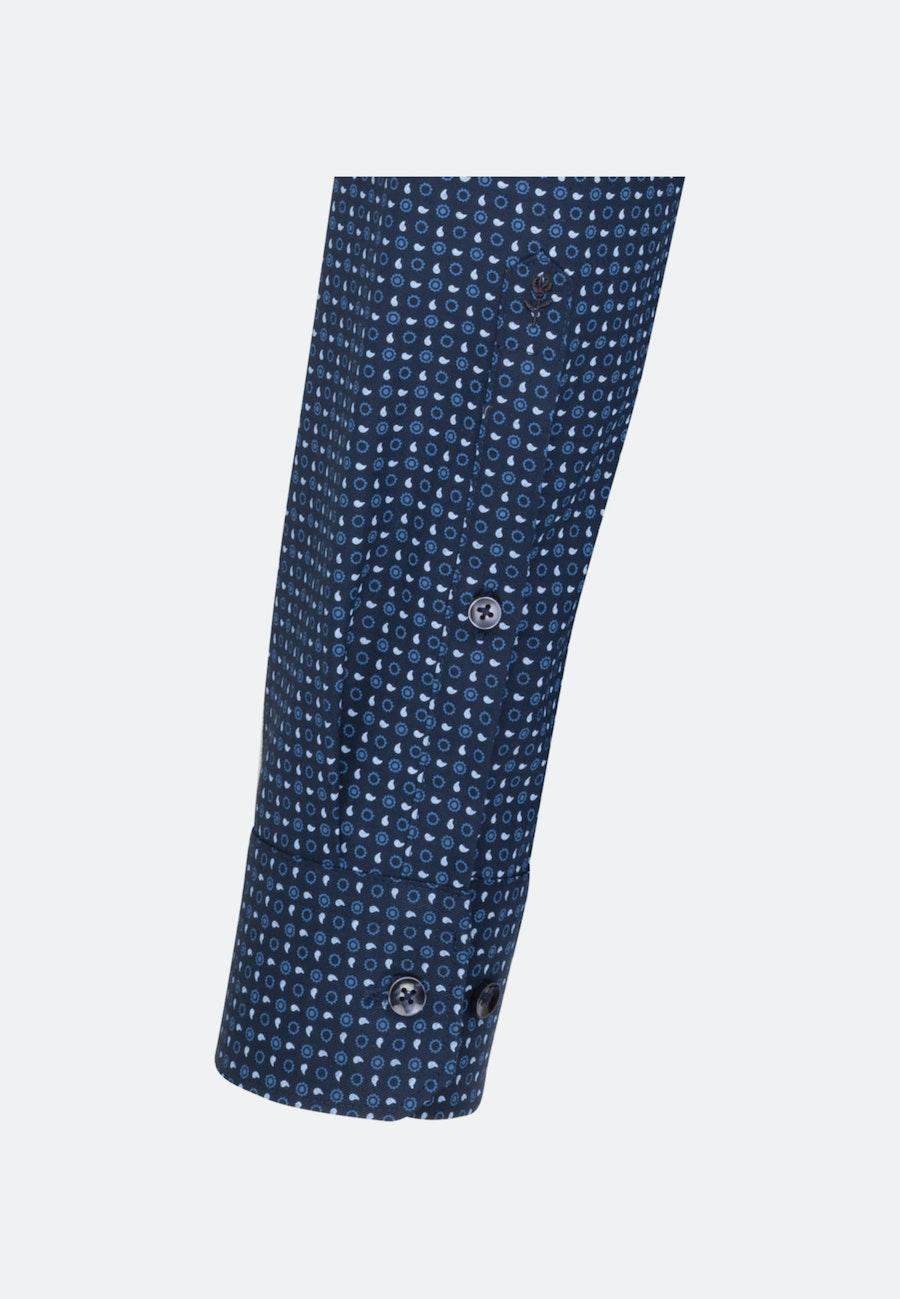 Bügelleichtes Twill Business Hemd in Regular mit Kentkragen in Dunkelblau    Seidensticker Onlineshop