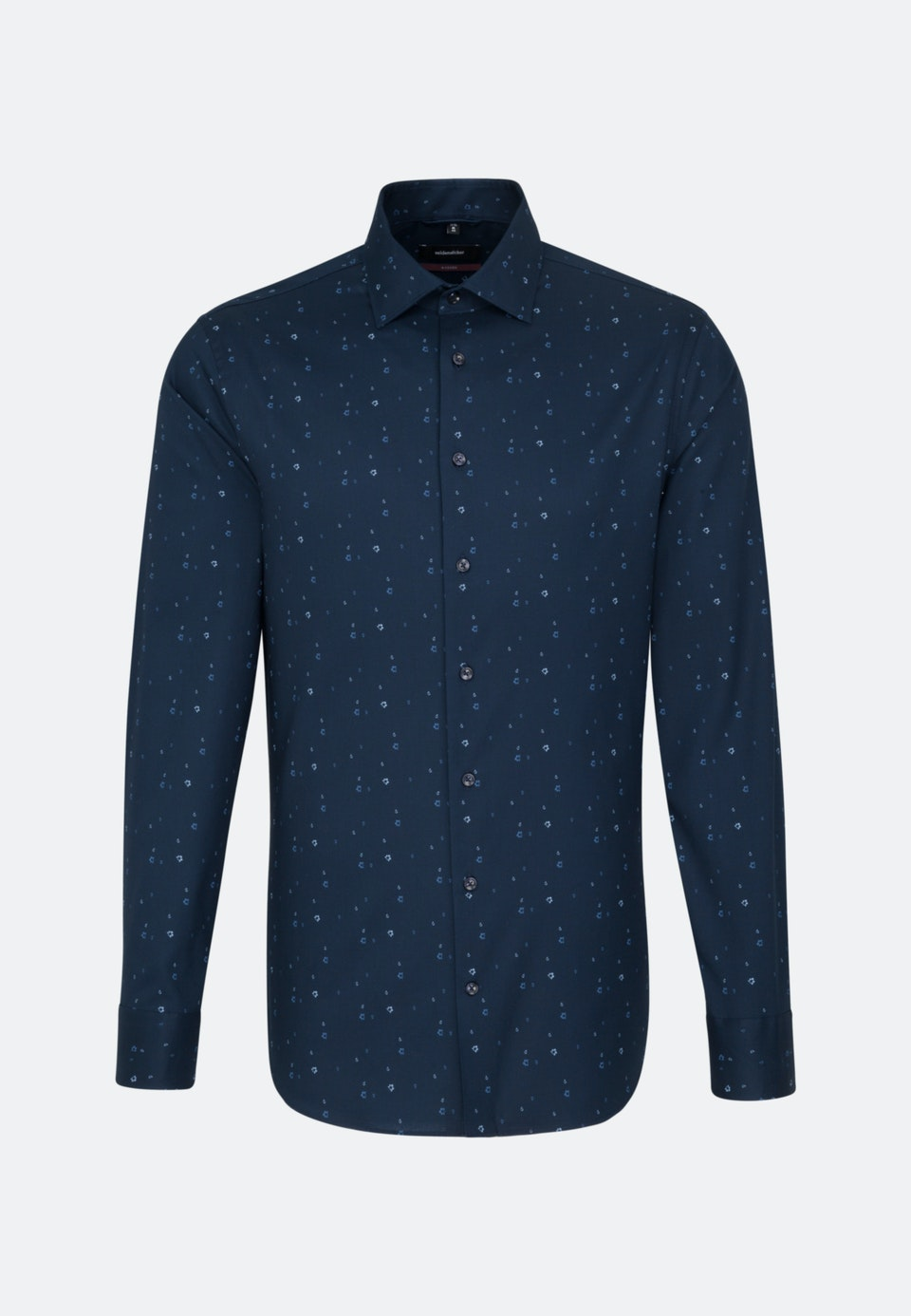 Easy-iron Twill Business Shirt in Regular with Kent-Collar in Dark blue |  Seidensticker Onlineshop