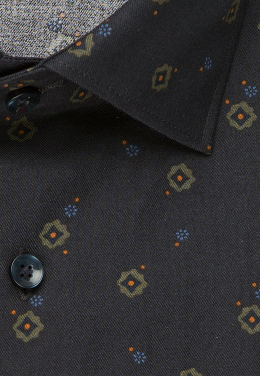 Easy-iron Twill Business Shirt in Shaped with Kent-Collar in Grey |  Seidensticker Onlineshop