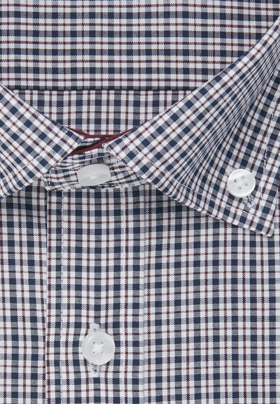 Bügelfreies Popeline Business Hemd in Regular mit Button-Down-Kragen in Rot |  Seidensticker Onlineshop