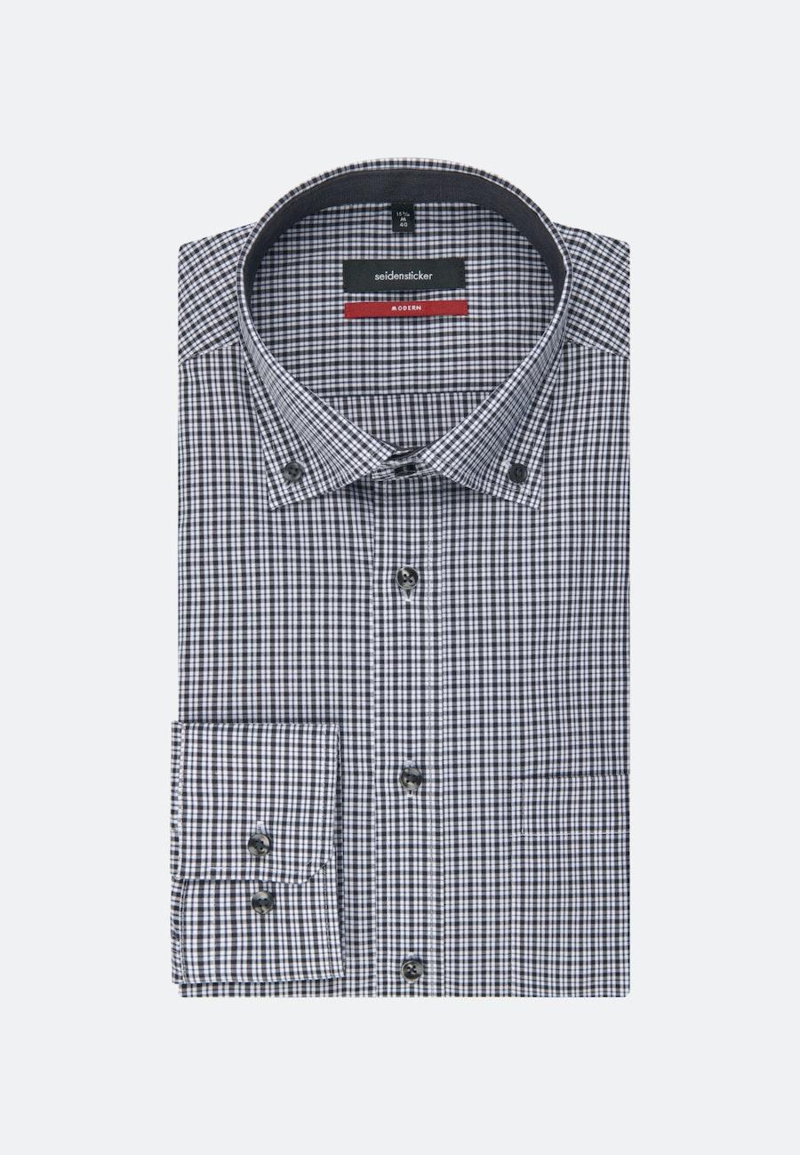 Non-iron Popeline Business Shirt in Regular with Button-Down-Collar in Grey |  Seidensticker Onlineshop