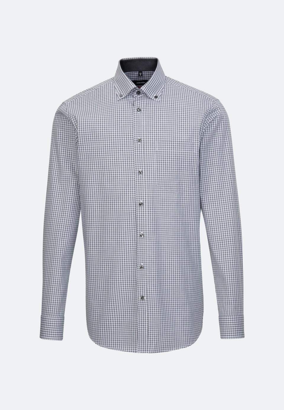 Non-iron Poplin Business Shirt in Regular with Button-Down-Collar in Grey |  Seidensticker Onlineshop