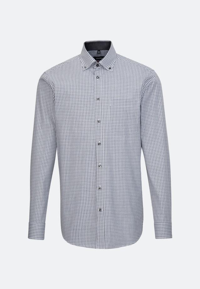 Bügelfreies Popeline Business Hemd in Regular mit Button-Down-Kragen in Grau |  Seidensticker Onlineshop