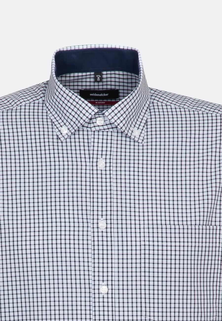 Non-iron Popeline Business Shirt in Regular with Button-Down-Collar in Dark blue    Seidensticker Onlineshop