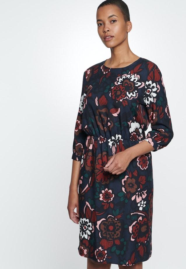 Twill Midi Kleid aus 100% Viskose in Dunkelblau    Seidensticker Onlineshop