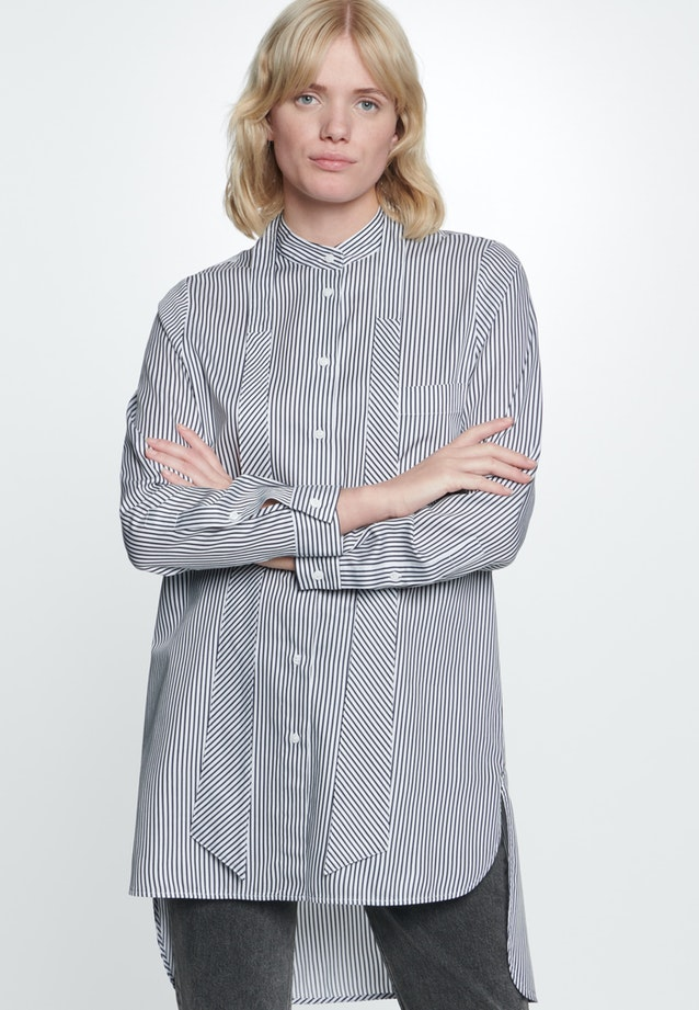 Satin Long Blouse made of 100% Cotton in Ecru |  Seidensticker Onlineshop