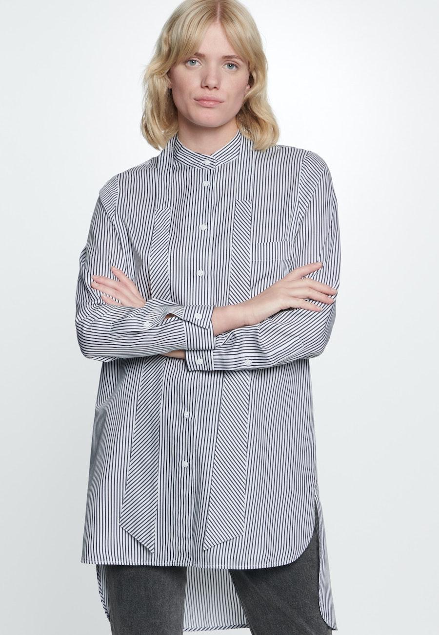 Satin Long Blouse made of 100% Cotton in Ecru    Seidensticker Onlineshop