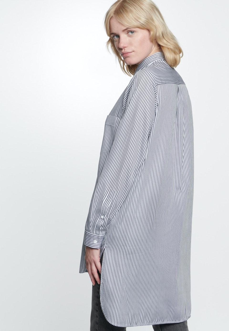 Satin Long Blouse made of 100% Cotton in Ecru |  Seidensticker Onlineshop