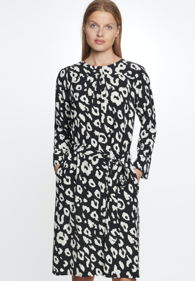 Crepe Midi Dress made of 100% Viscose in Black |  Seidensticker Onlineshop