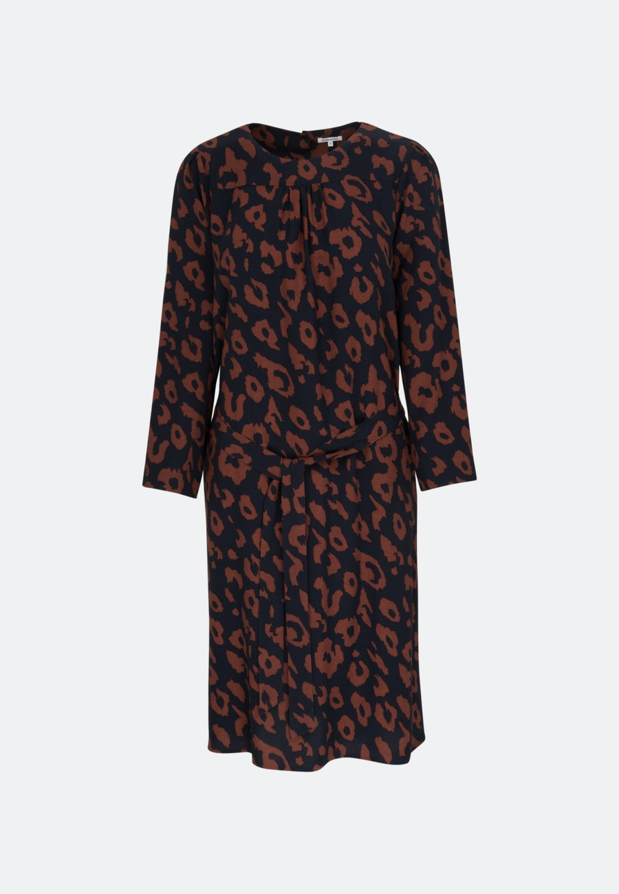 Crepe Midi Dress made of 100% Viscose in Dark blue    Seidensticker Onlineshop