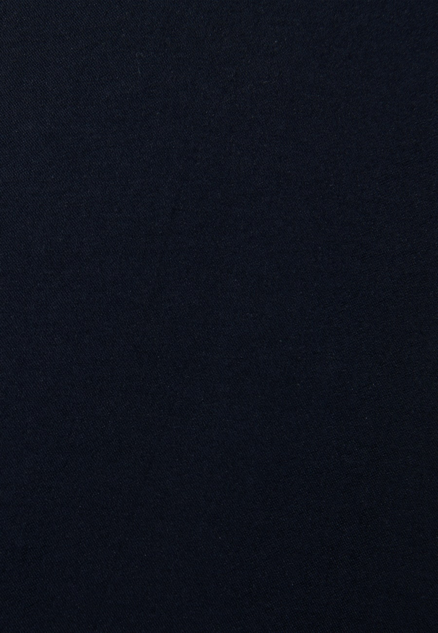 Twill Shirt Blouse made of tencel blend in Dark blue |  Seidensticker Onlineshop