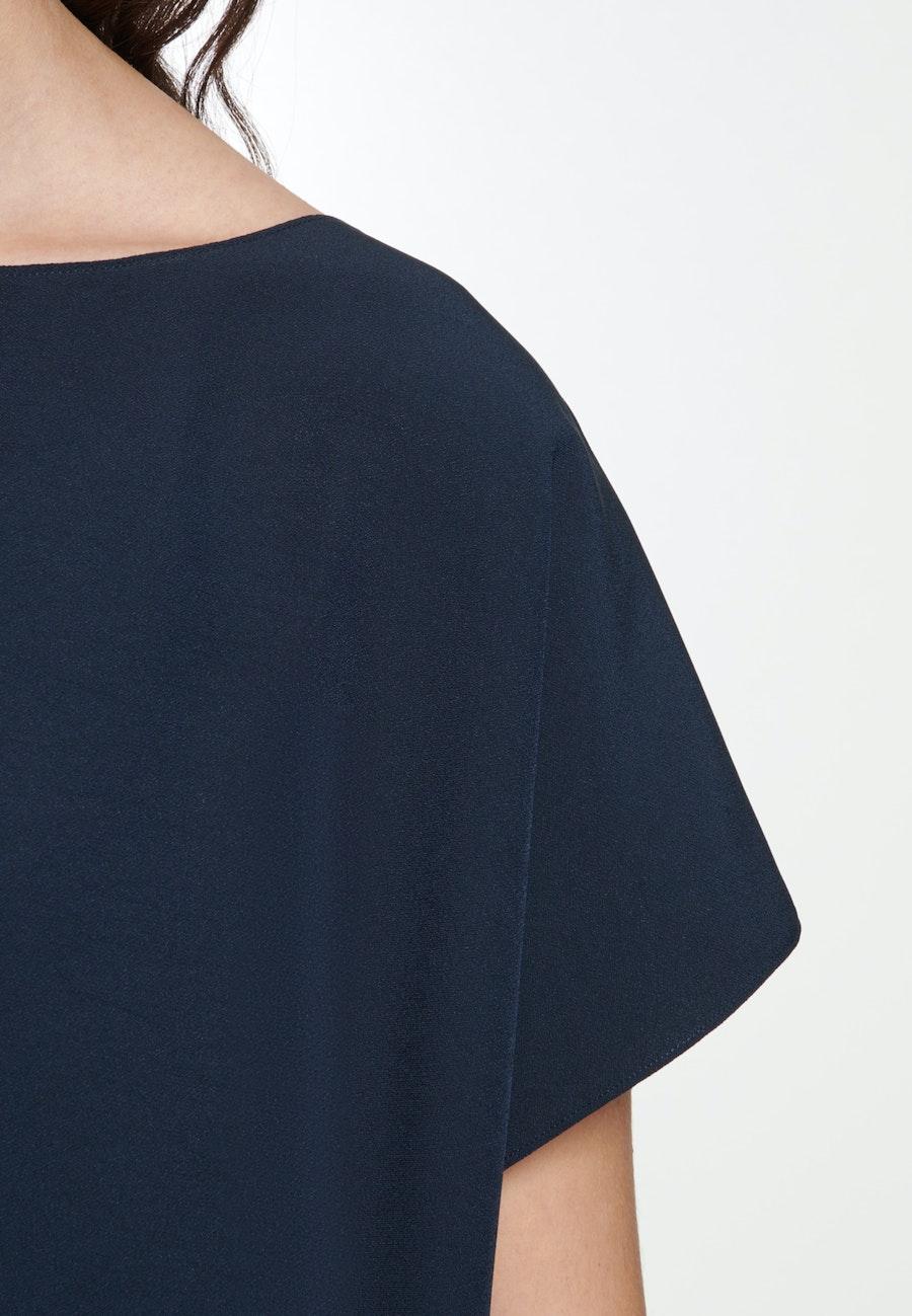 Short sleeve Crepe Shirt Blouse made of rayon blend in Dark blue |  Seidensticker Onlineshop