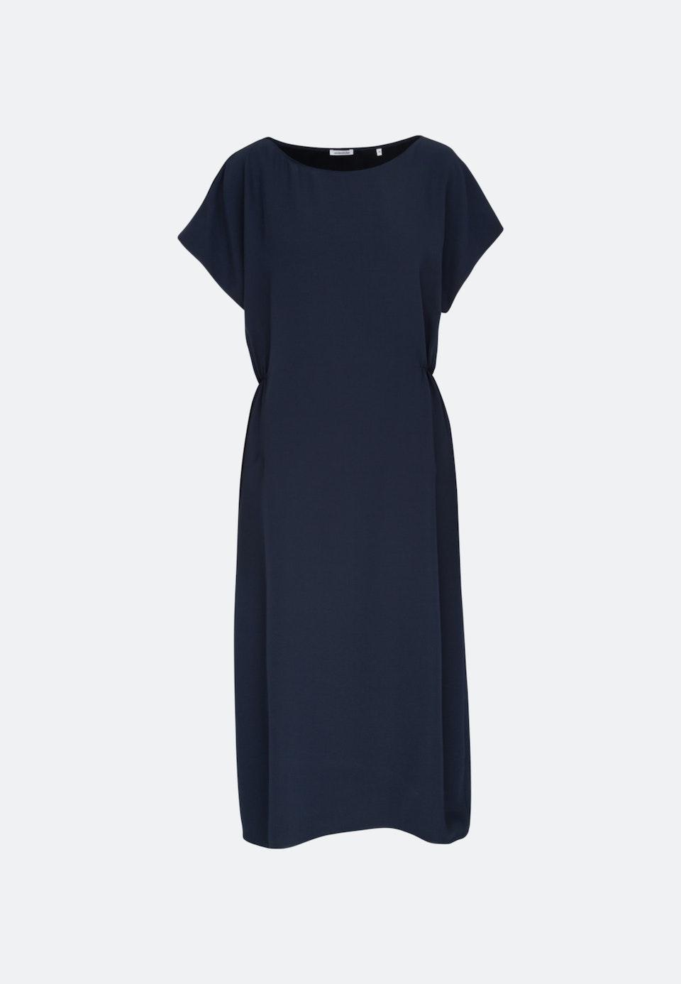Sleeveless Crepe Maxi Dress made of rayon blend in Dark blue |  Seidensticker Onlineshop