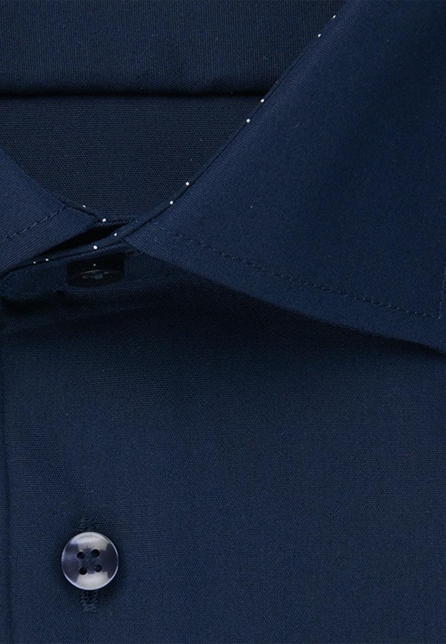 Non-iron Popeline Business Shirt in Regular with Kent-Collar in Dark blue |  Seidensticker Onlineshop