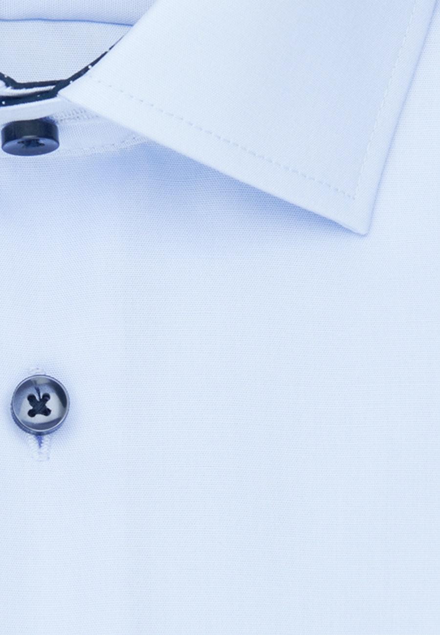 Bügelfreies Popeline Business Hemd in Regular mit Kentkragen in Mittelblau    Seidensticker Onlineshop