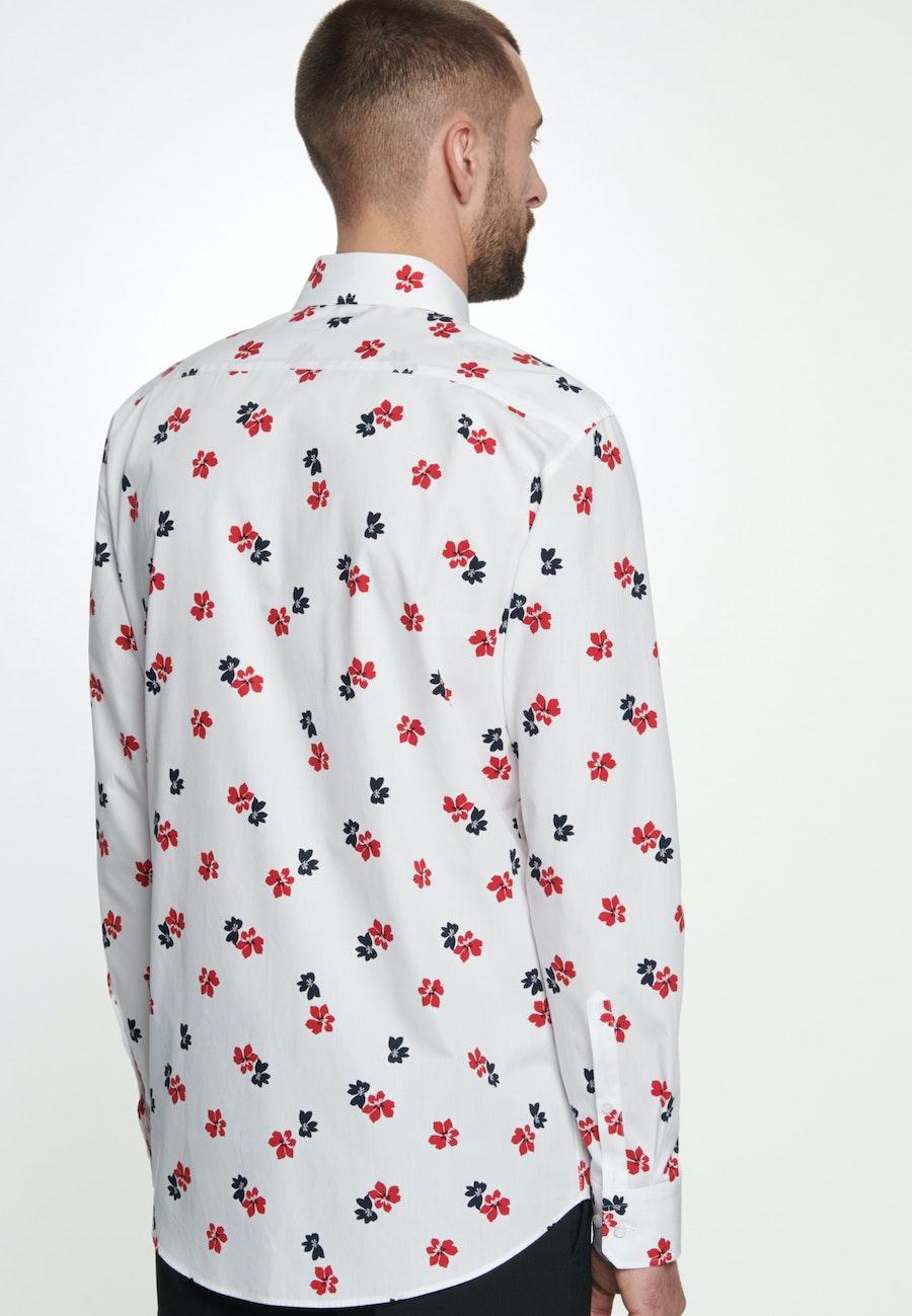 Easy-iron Popeline Business Shirt in Regular with Kent-Collar in White |  Seidensticker Onlineshop