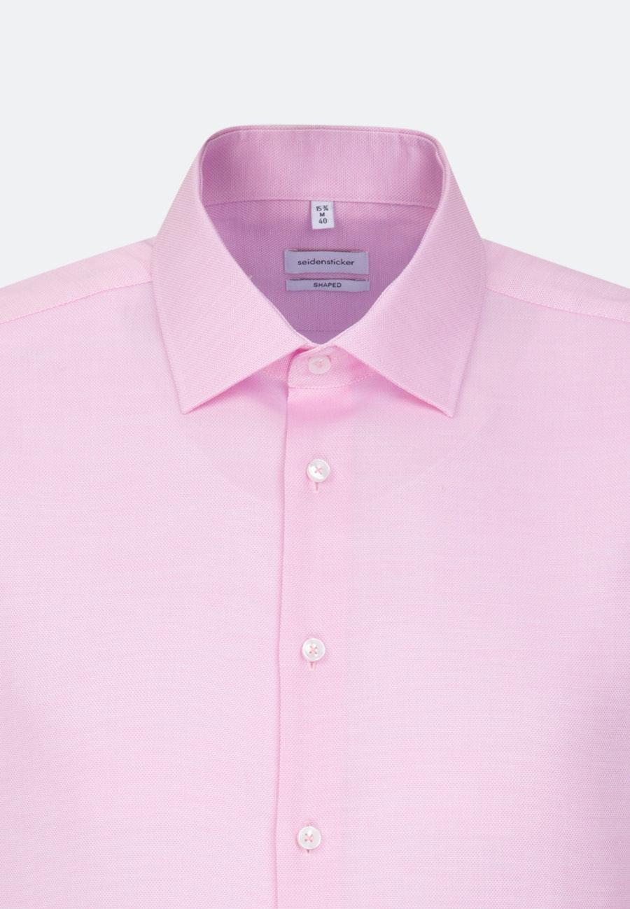 Bügelfreies Struktur Business Hemd in Shaped mit Kentkragen in Rosa/Pink    Seidensticker Onlineshop