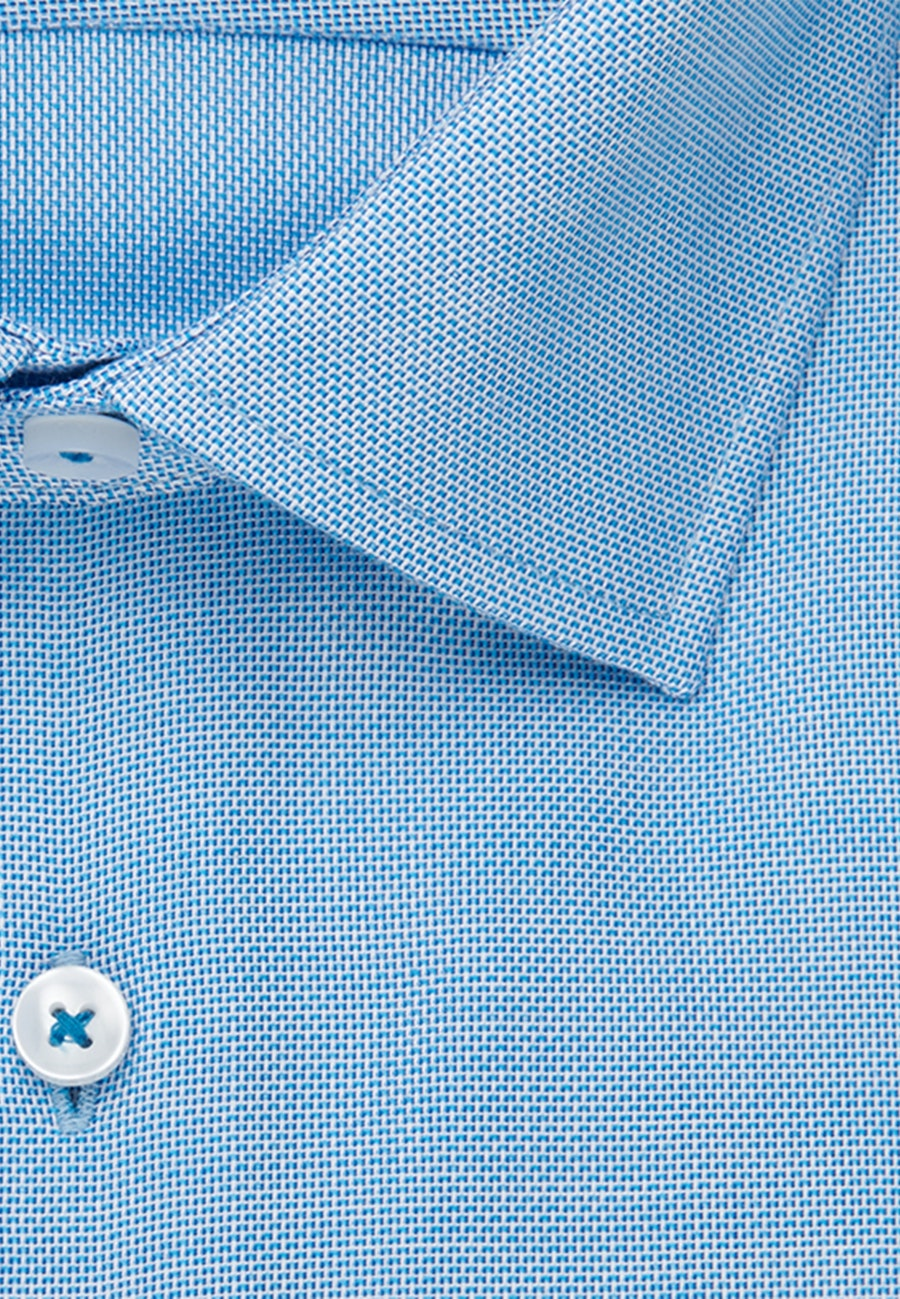 Non-iron Struktur Business Shirt in Shaped with Kent-Collar in Turquoise |  Seidensticker Onlineshop