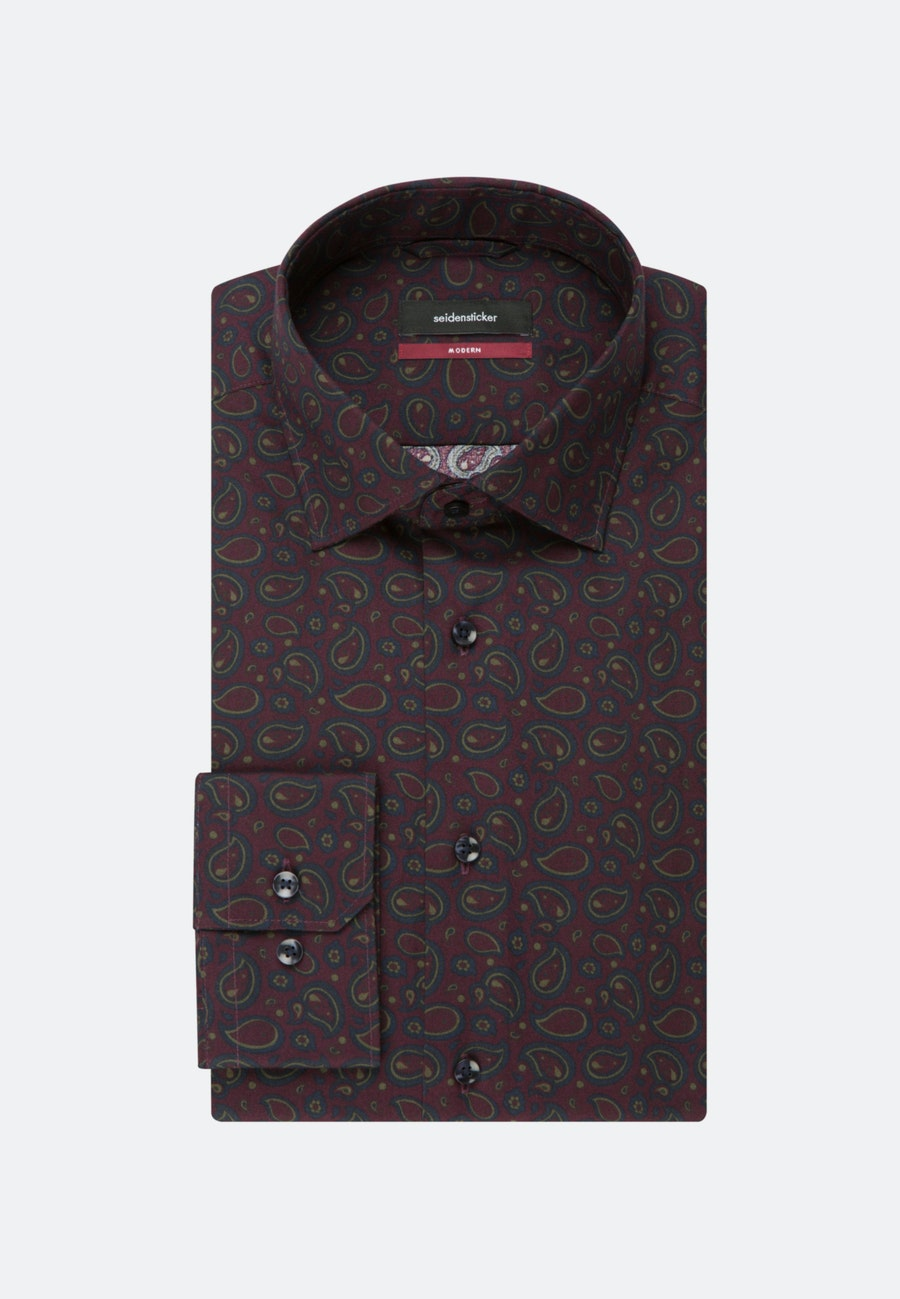 Easy-iron Twill Business Shirt in Regular with Kent-Collar in Red |  Seidensticker Onlineshop