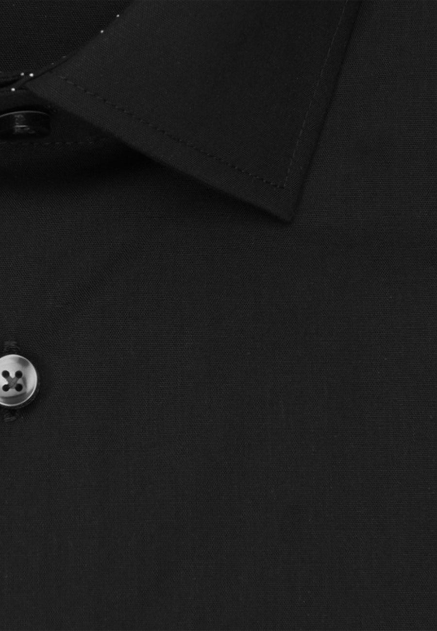 Non-iron Popeline Business Shirt in X-Slim with Kent-Collar in Black |  Seidensticker Onlineshop