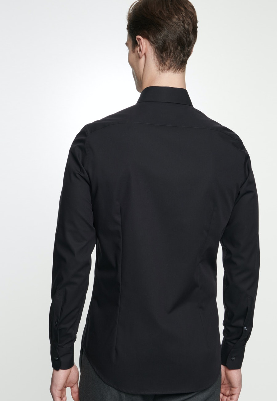 Bügelfreies Popeline Business Hemd in X-Slim mit Kentkragen in Schwarz |  Seidensticker Onlineshop