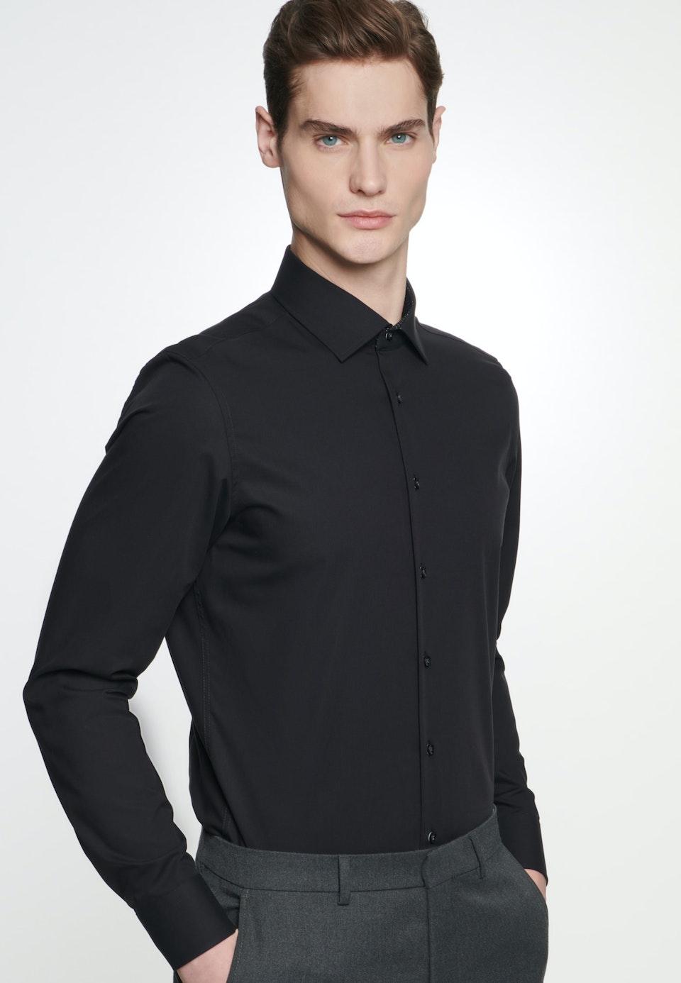 Bügelfreies Popeline Business Hemd in X-Slim mit Kentkragen in Schwarz    Seidensticker Onlineshop