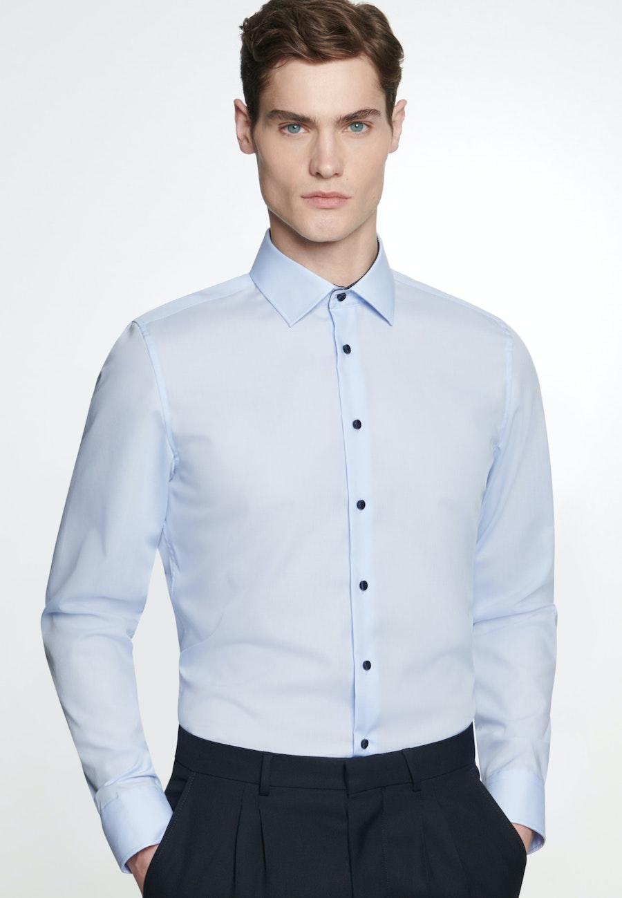 Non-iron Poplin Business Shirt in X-Slim with Kent-Collar in Medium blue |  Seidensticker Onlineshop