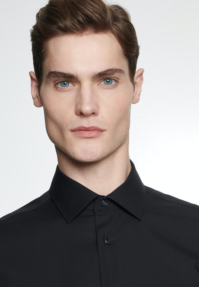 Non-iron Poplin Business Shirt in Slim with Kent-Collar in Black |  Seidensticker Onlineshop