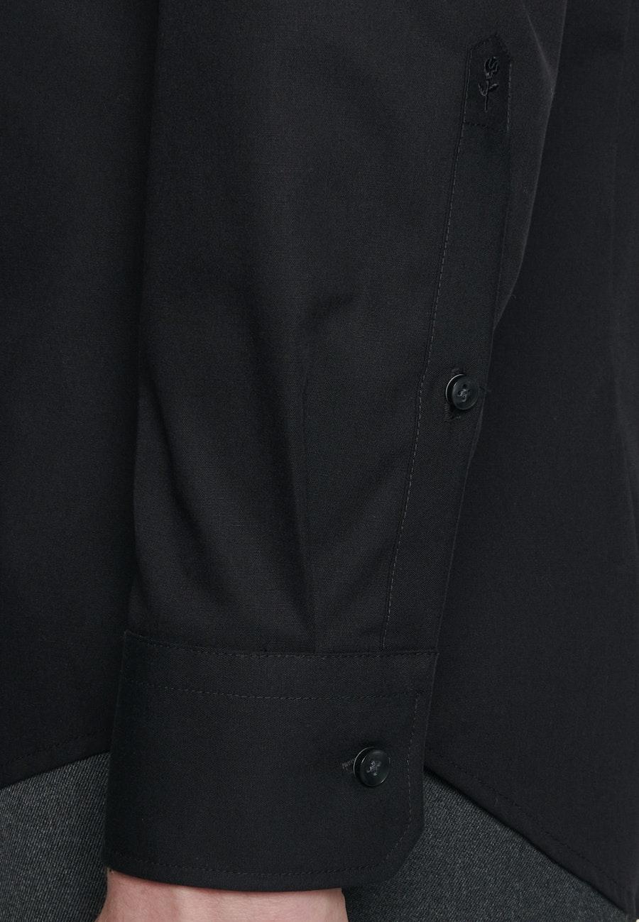 Bügelfreies Popeline Business Hemd in Slim mit Kentkragen in Schwarz    Seidensticker Onlineshop