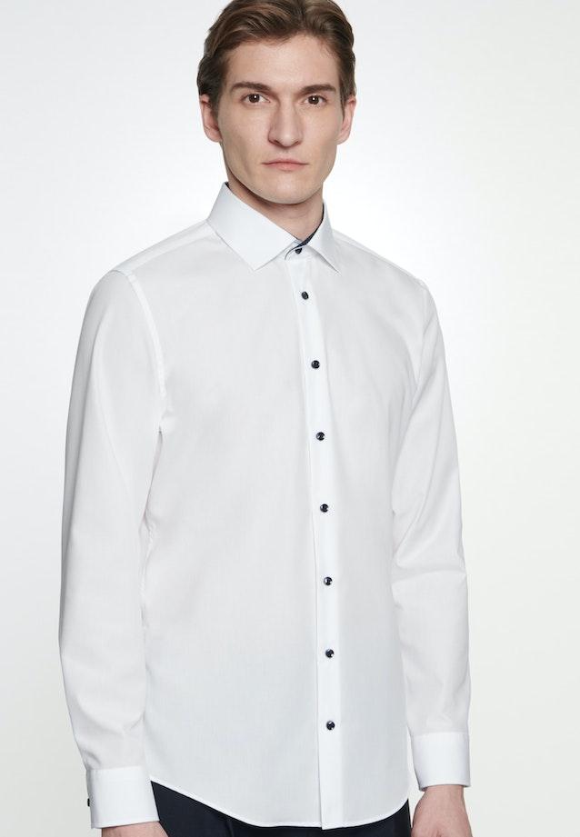 Bügelfreies Popeline Business Hemd in Slim mit Kentkragen in Weiß |  Seidensticker Onlineshop