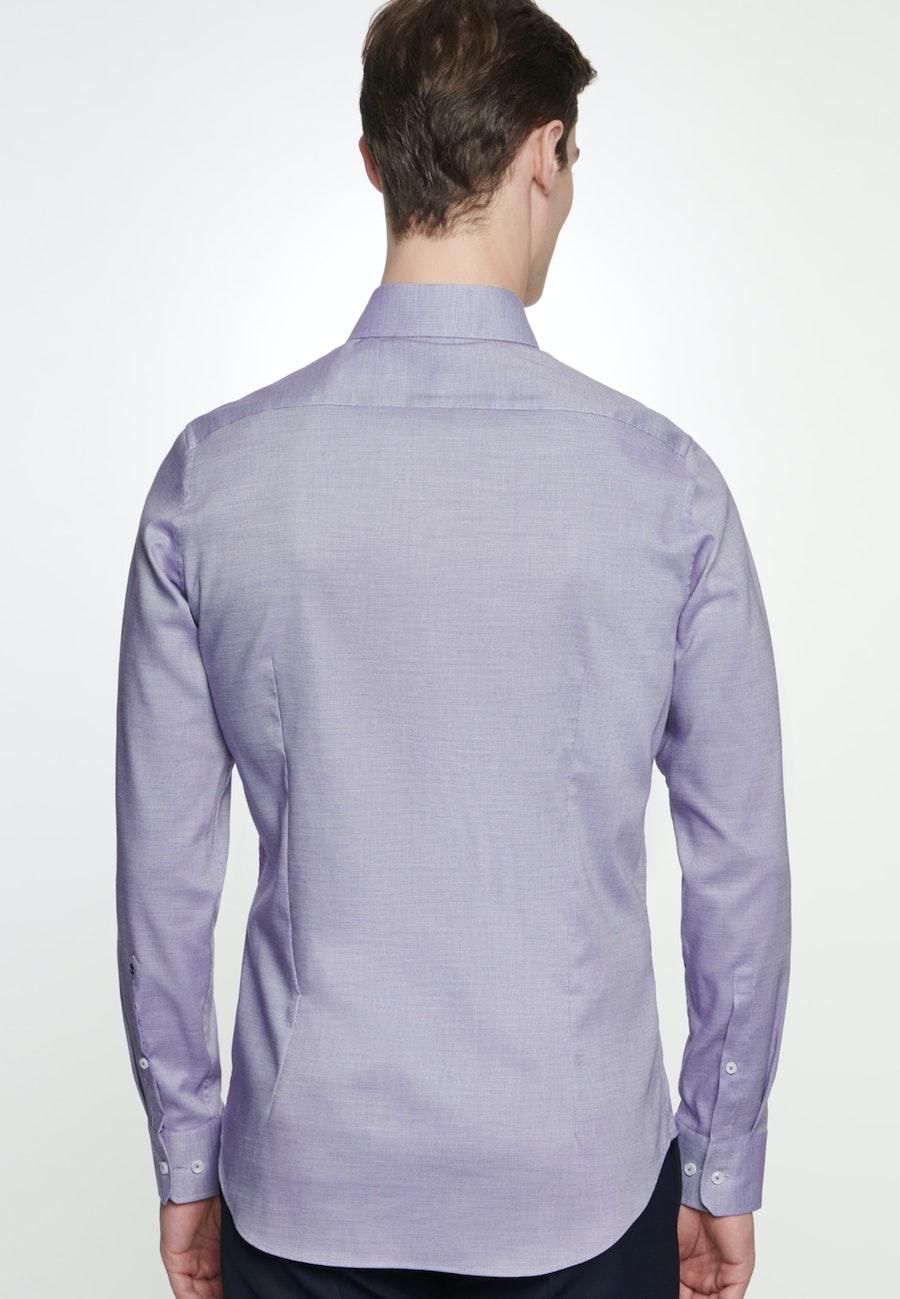 Bügelfreies Struktur Business Hemd in Slim mit Kentkragen in Lila    Seidensticker Onlineshop