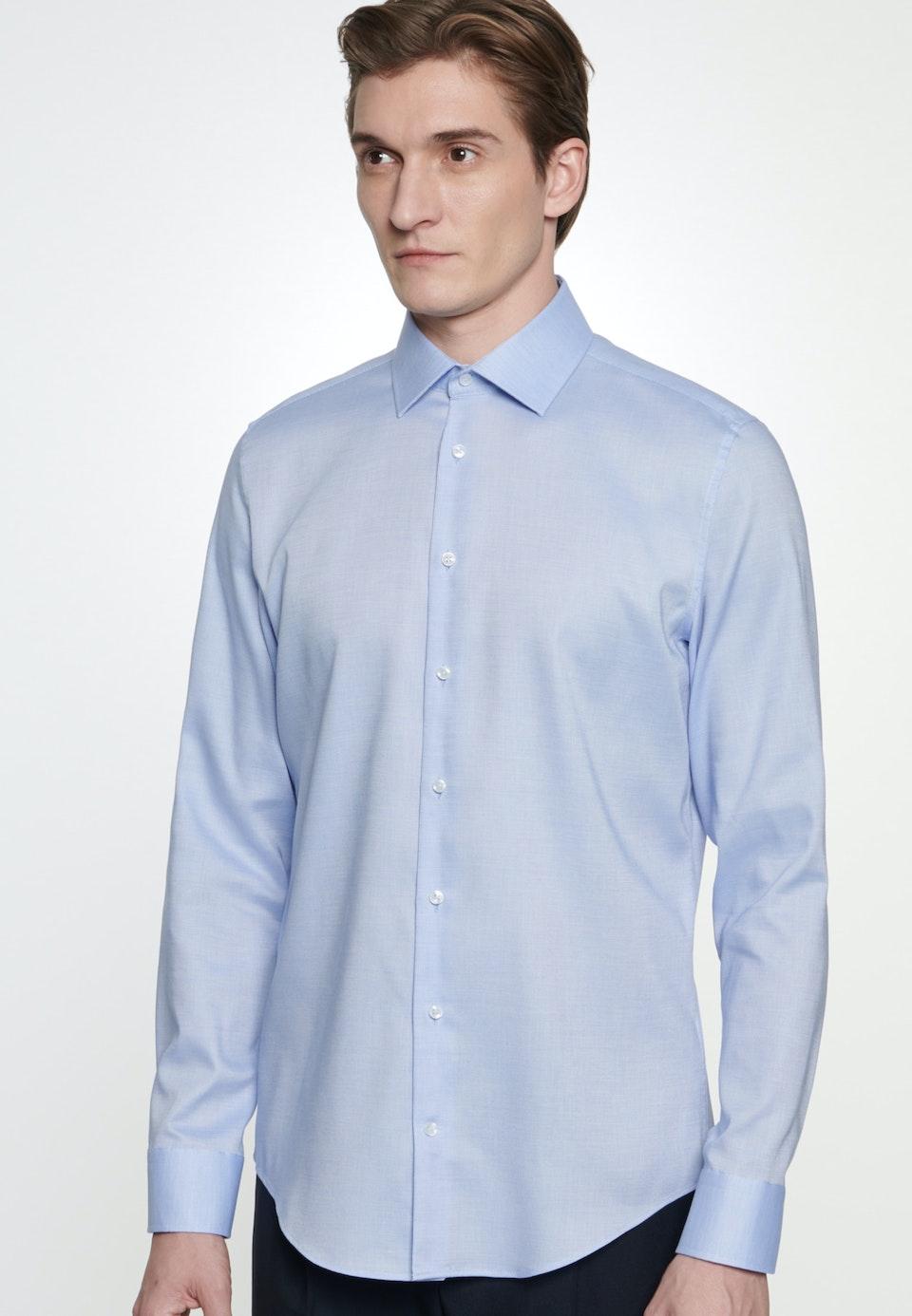 Non-iron Struktur Business Shirt in Slim with Kent-Collar in Light blue |  Seidensticker Onlineshop