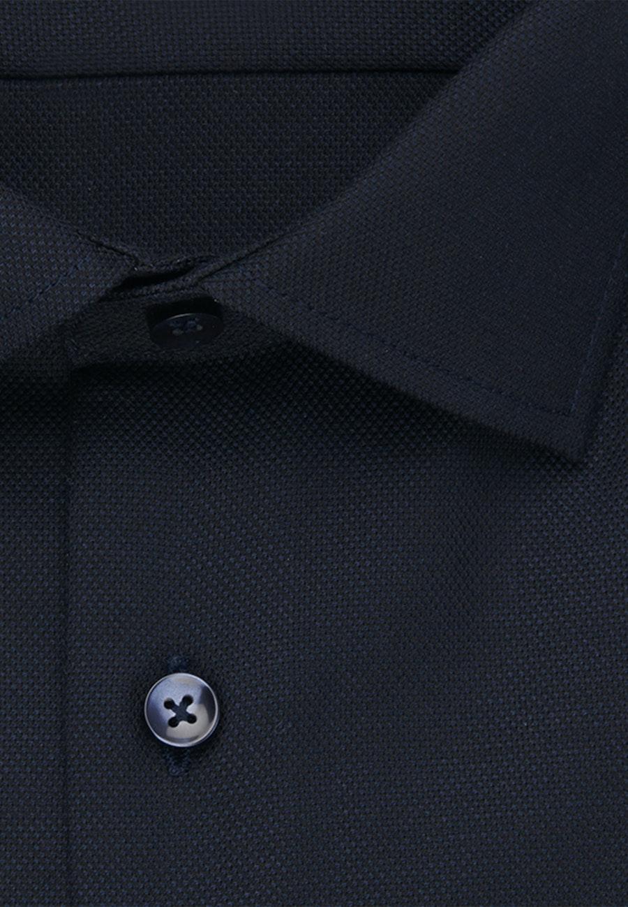 Non-iron Struktur Business Shirt in Slim with Kent-Collar in Dark blue    Seidensticker Onlineshop