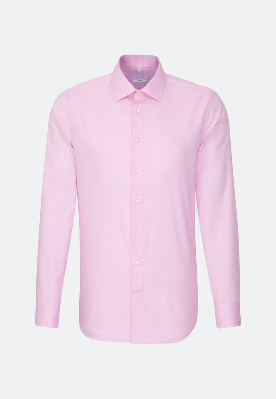 Bügelfreies Struktur Business Hemd in Slim mit Kentkragen in Rosa/Pink    Seidensticker Onlineshop