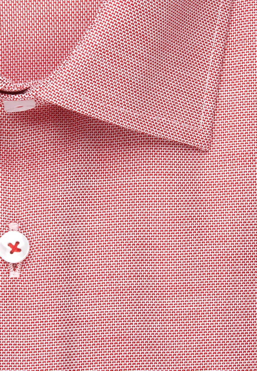 Bügelfreies Struktur Business Hemd in Slim mit Kentkragen in Rot |  Seidensticker Onlineshop