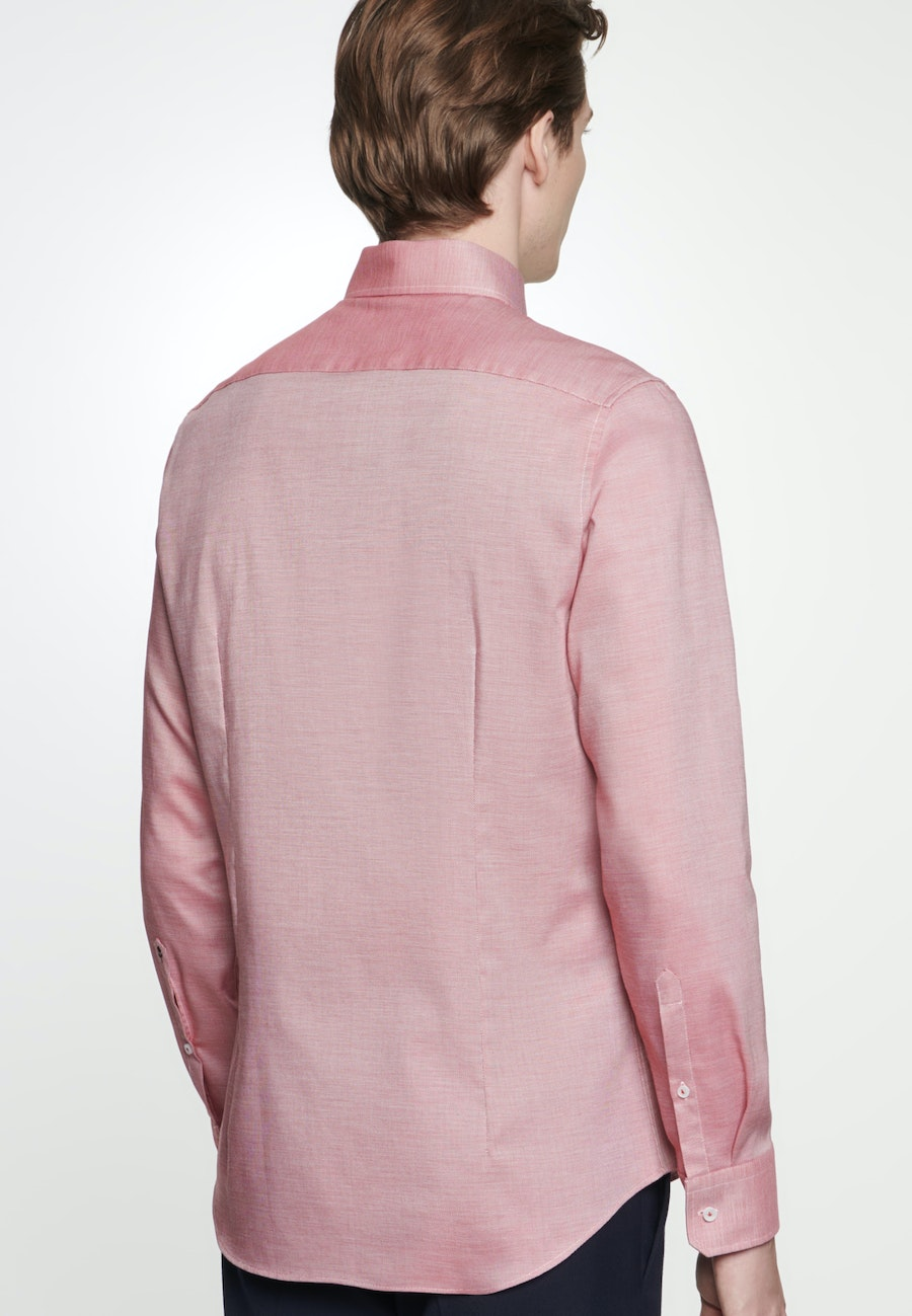 Non-iron Struktur Business Shirt in Slim with Kent-Collar in Red |  Seidensticker Onlineshop