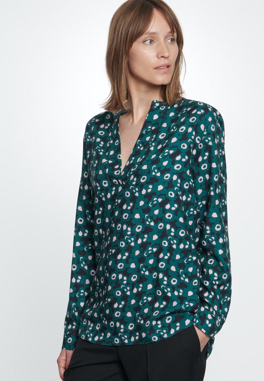 Twill Slip Over Blouse made of 100% Viscose in Green |  Seidensticker Onlineshop