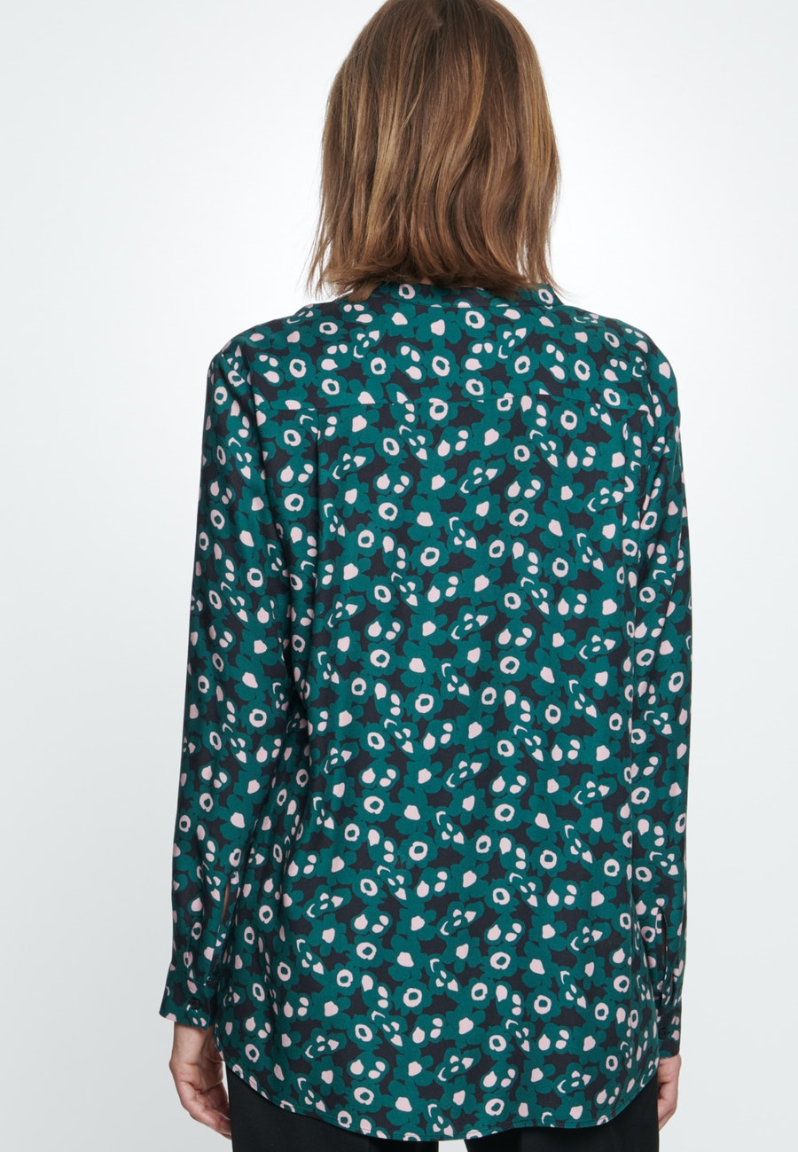 Twill Schlupfbluse aus 100% Viskose in Grün |  Seidensticker Onlineshop