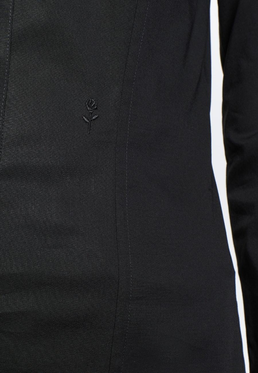 Popeline Shirt Blouse made of cotton blend in Black |  Seidensticker Onlineshop