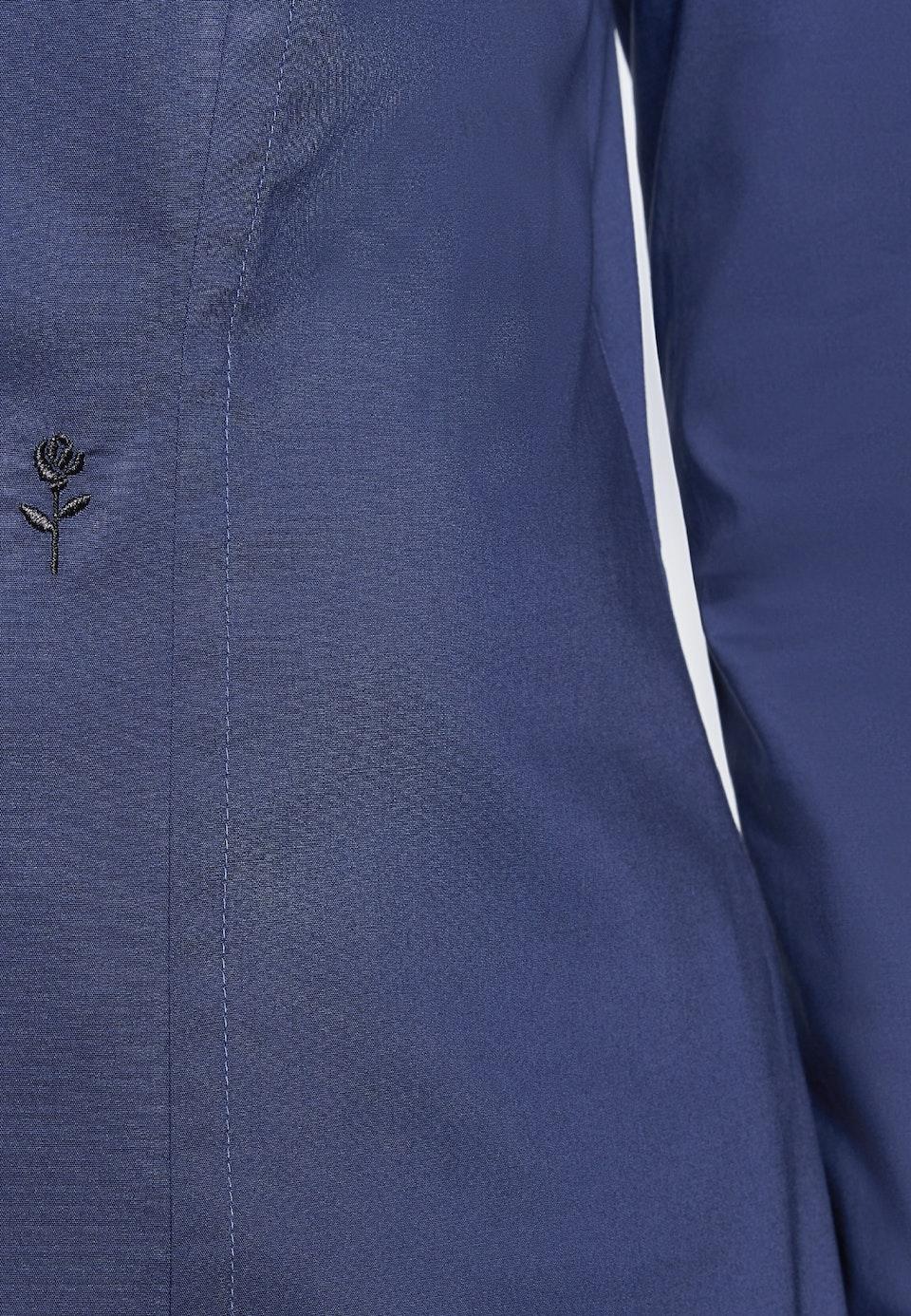 Popeline Shirt Blouse made of cotton blend in Dark blue |  Seidensticker Onlineshop