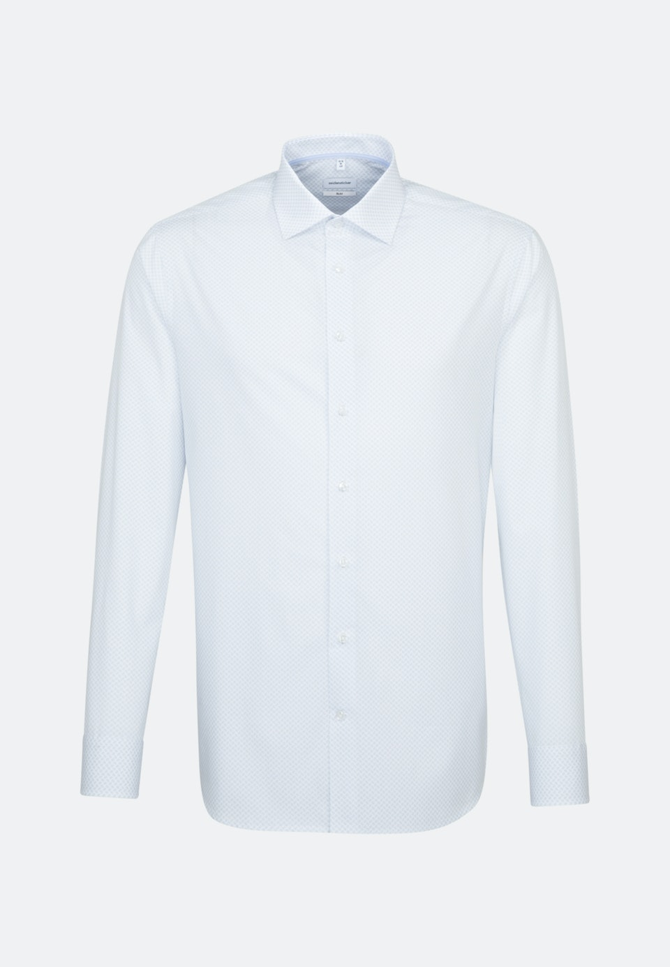 Easy-iron Popeline Business Shirt in Slim with Kent-Collar in Light blue |  Seidensticker Onlineshop
