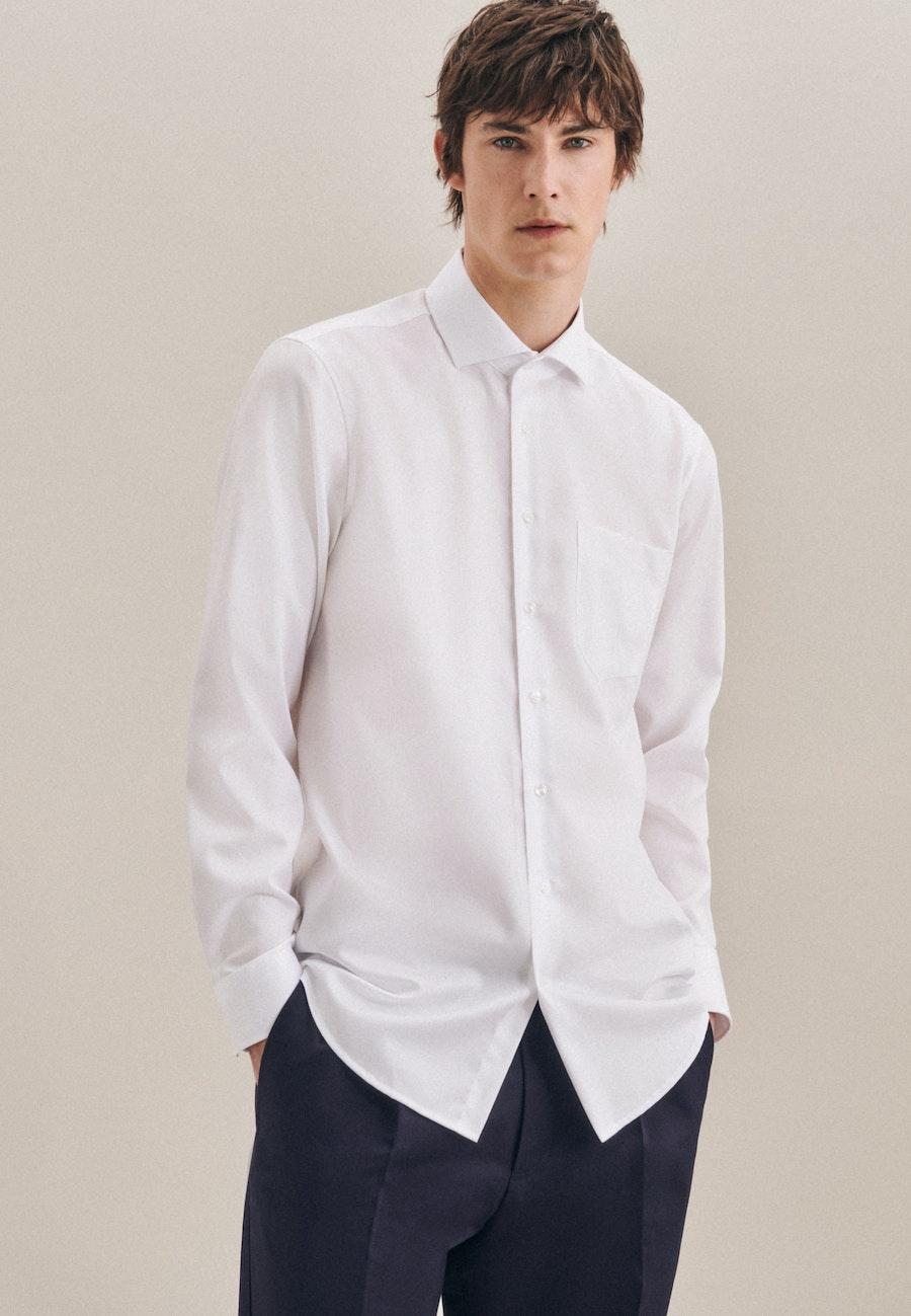 Non-iron Twill Business Shirt in Regular with Kent-Collar in White |  Seidensticker Onlineshop