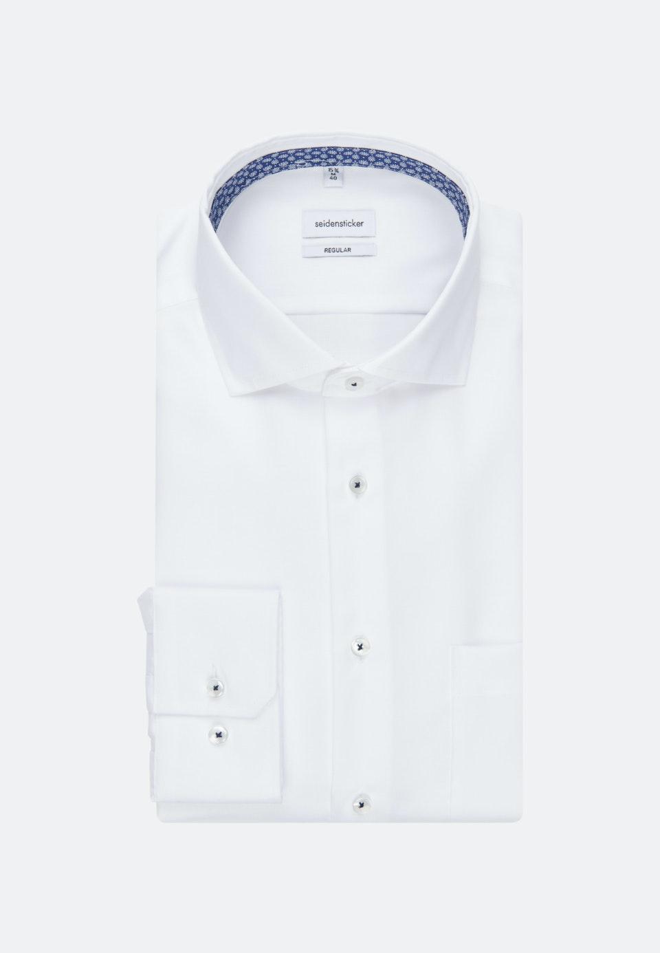 Bügelfreies Twill Business Hemd in Regular mit Kentkragen in Weiß    Seidensticker Onlineshop