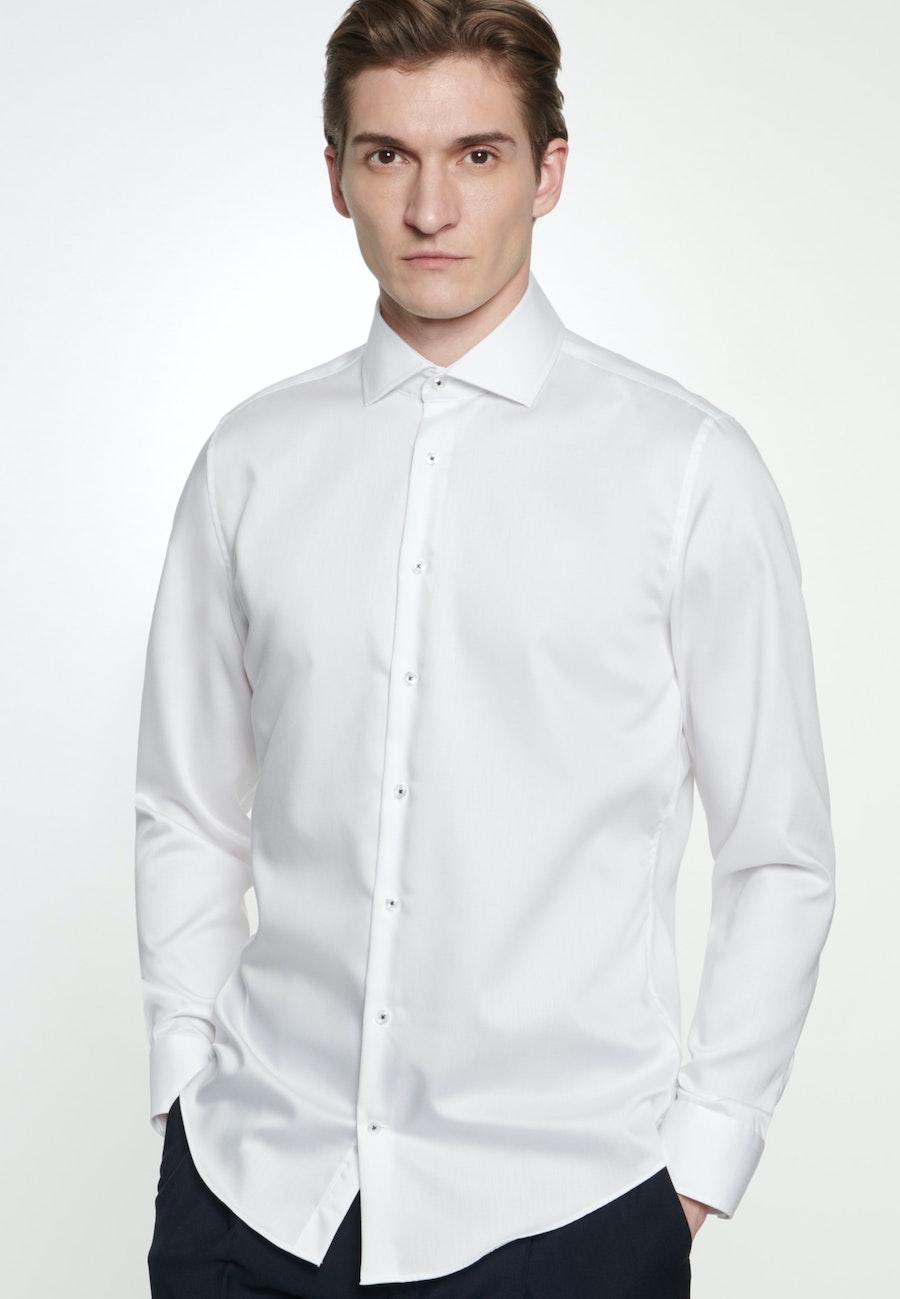 Bügelfreies Twill Business Hemd in Shaped mit Kentkragen in Weiß |  Seidensticker Onlineshop