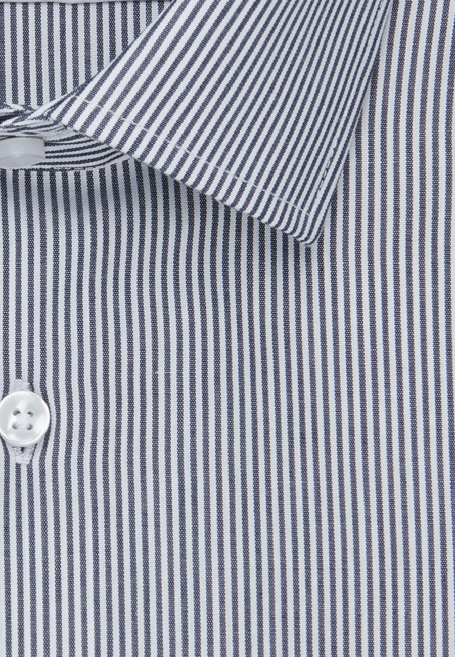 Non-iron Popeline Business Shirt in Slim with Kent-Collar in Dark blue |  Seidensticker Onlineshop
