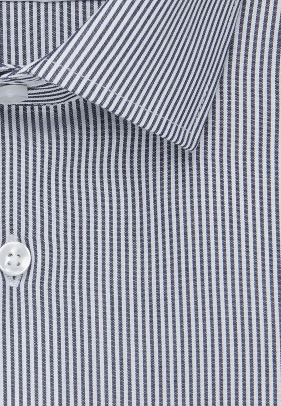 Bügelfreies Popeline Business Hemd in Slim mit Kentkragen in Dunkelblau    Seidensticker Onlineshop