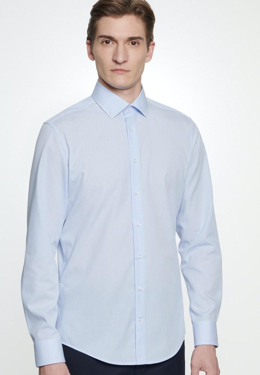 Non-iron Popeline Business Shirt in Slim with Kent-Collar in Light blue |  Seidensticker Onlineshop