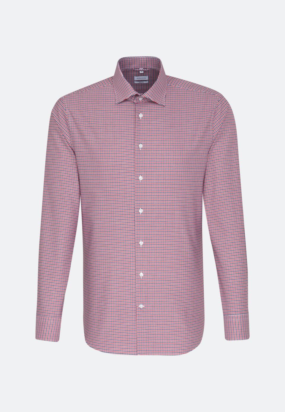 Bügelfreies Oxford Business Hemd in Shaped mit Kentkragen in Rot |  Seidensticker Onlineshop