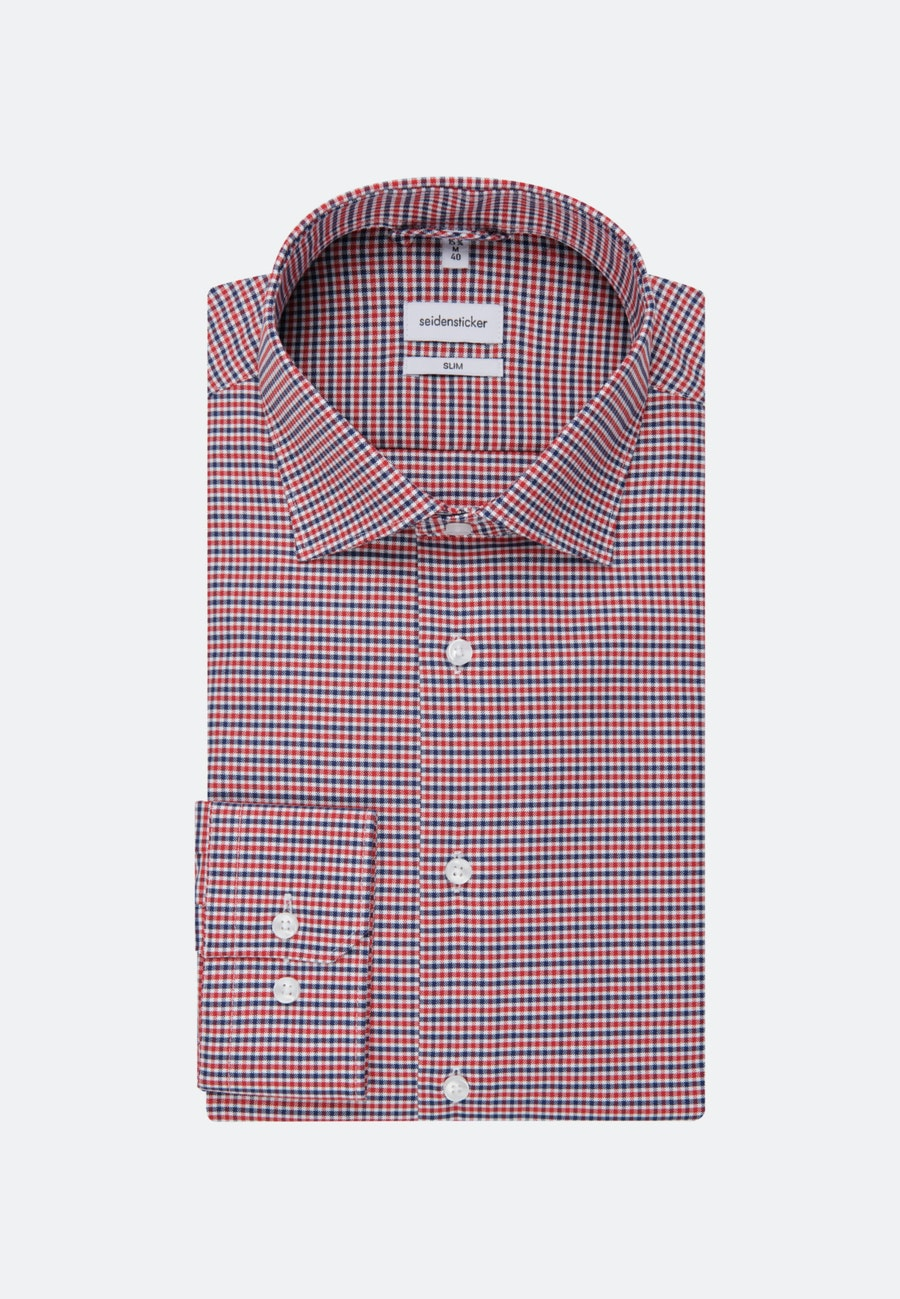 Non-iron Oxford Business Shirt in Slim with Kent-Collar in Red |  Seidensticker Onlineshop
